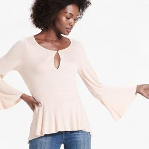 Lucky Brand Bell Sleeve Top Pink